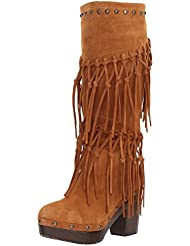 Ariat Womens Music Row Work Boot, Dark Brown Suede, 7 B US