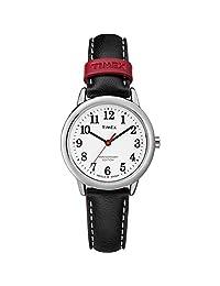 Timex Reloj de correa de piel tw2r40200Fácil lector 40th Anniversary Blanco/Negro Para Mujer
