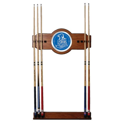 NCAA Seton Hall University Billiard Cue Rack with Mirror by Trademark Gameroom