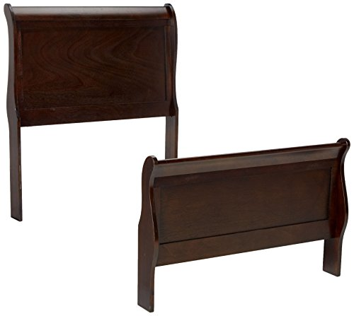 Louis Philippe Twin Panel Sleigh Bed Cappuccino