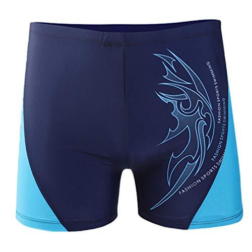 Men's Boxer Briefs Ultra Soft Breathable Nylon Multipack No Ride-up Regular Long Mens Underwear Blue