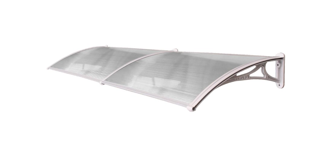 High Quality All Weather Proof Door Canopy 2.4m in White (CP0001-2) Grand Group International
