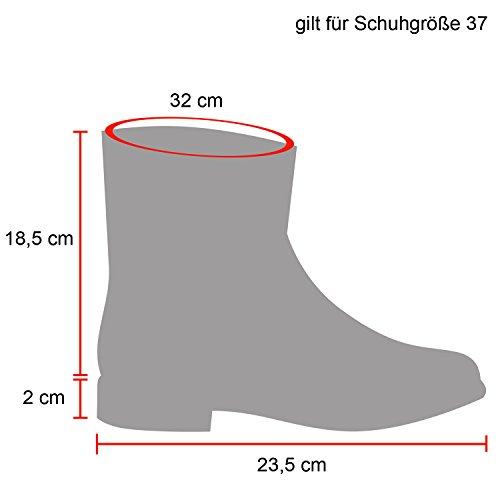 Damen Schlupfstiefel Warm gefütterte Stiefel Prints Schuhe Schleifen Nieten Stiefeletten Strass Winterschuhe Boots Flandell Dunkelbraun Blumen