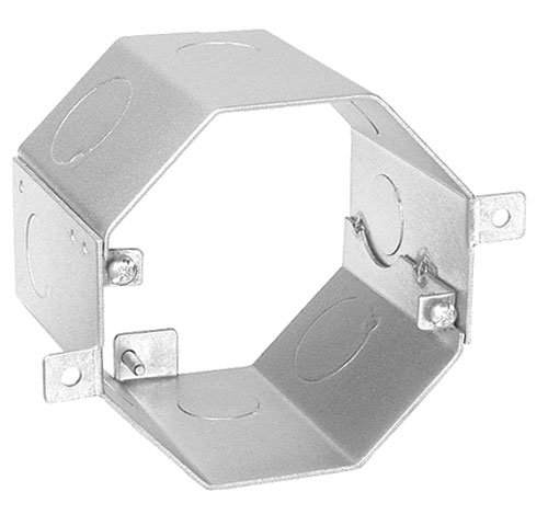 3 Inch Deep Octagon Concrete Box With 4 1/2 Inch & 4 3/4 Inch Side Knockouts-2 per case ()