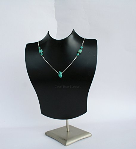 klace, Unique Natural Turquoise Nugget Necklace, Sterling Silver Chain Necklace *Exp Shipping ()