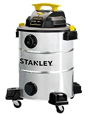 Stanley SL18014 10-Gallon 5.5 Peak Pro Stainless Steel Series Horsepower Wet/Dry Vacuum Cleaner
