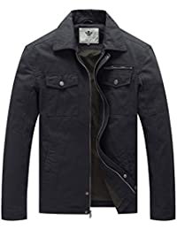 Men's Canvas Cotton Military Lapel Jacket