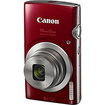 Canon PowerShot ELPH 180 20MP 8x Zoom Digital Camera + Card + Reader + Case + Accessory Bundle from The Imaging World