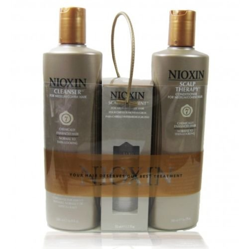 Nioxin System 7 Cleanser 16.9oz, Scalp Therapy 10.1oz and...