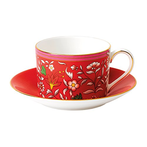 Wedgwood Wonderlust Teacup & Saucer Set Crimson ()