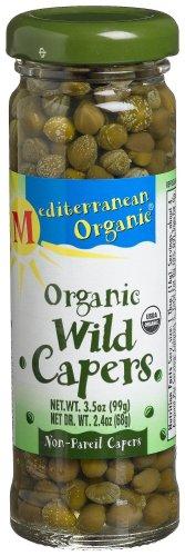 Mediterranean Organic Wild Non-Pareil Organic Capers, 3.5-Ounce Jars (Pack of 6)