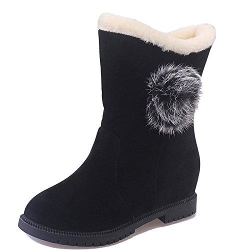 PU Muelle Marrón Rojo mujer ZHZNVX Negro Comfort Fall Botas Zapatos negro HSXZ para de Exterior qg7IOX7