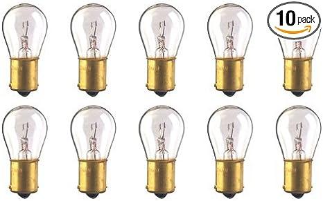 S-8 Shape 12.8 V CEC Industries #93 Bulbs 13.312 W Box of 10 BA15s Base