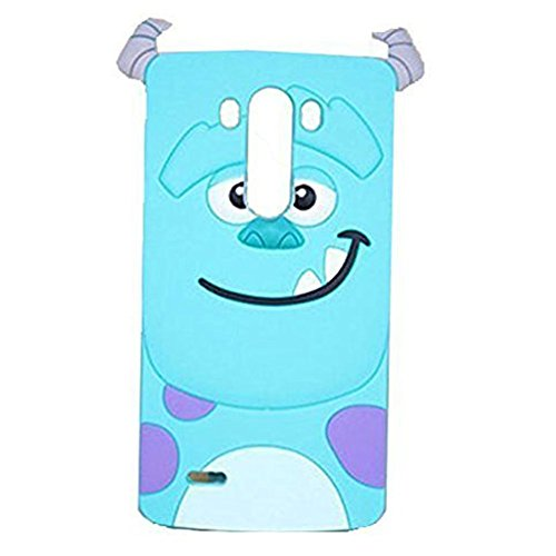 Price comparison product image LG G Stylo Silicone Case 3D Cartoon Cases for LG G Stylo, WGOOD Cute Lovely Animal Blue Monster Silicon Gel Rubber Case Cover for LG G Stylo LS770