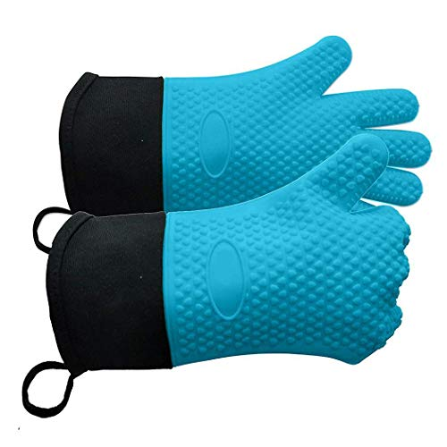 Mandii Unisex Double-Layer Anti-scalding Non-Slip Kitchen Gloves Oven Mitts Mitts from Mandii