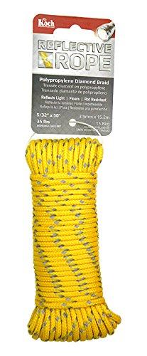 Koch Industries 5180544 Diamond Braid Polypropylene Rope, 5/32 by 50', Reflective Yellow ()