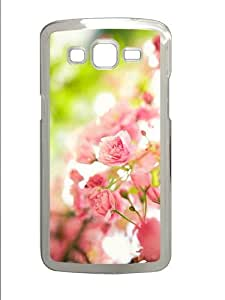 case sale covers pink flowers bush PC Transparent case/cover for Samsung Galaxy Grand 2/7106