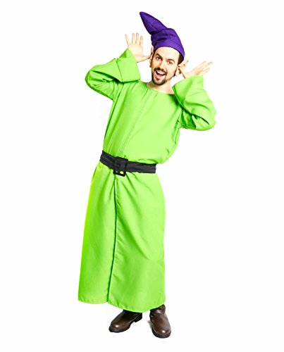 Largemouth Men's Long Dwarf Overcoat and Belt Costume, Green (Standard)