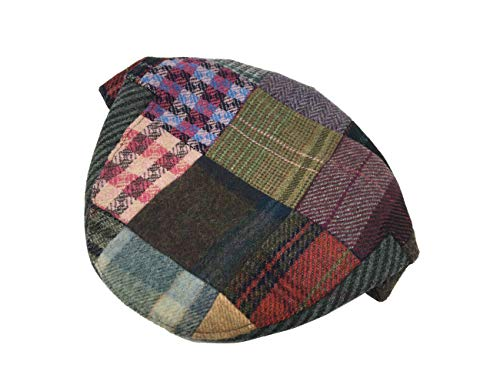 a2a3c36cd83 John Hanly Men s Flat Cap Patchwork 100% Lambswool Made in Ireland Large