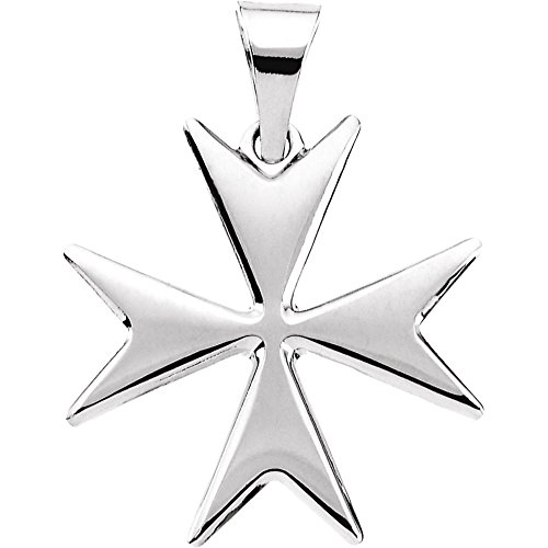 Bonyak Jewelry Sterling Silver Maltese Cross Pendant with Packaging (Cross Silver Maltese Sterling)