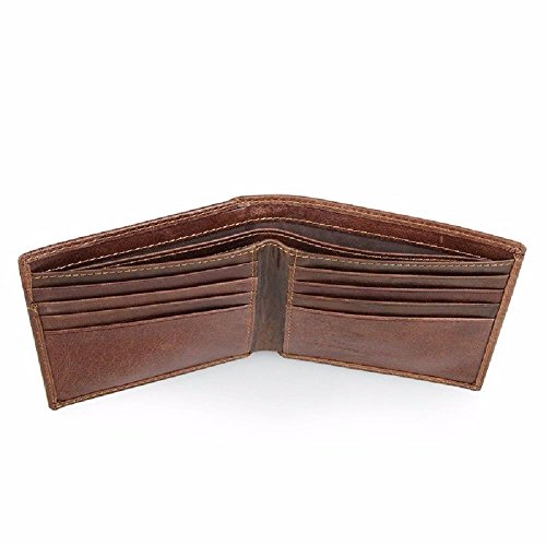 wallet pocket shield RFID LIGYM card wallet retro Leather men's Coffee color money short zCPwgUxq