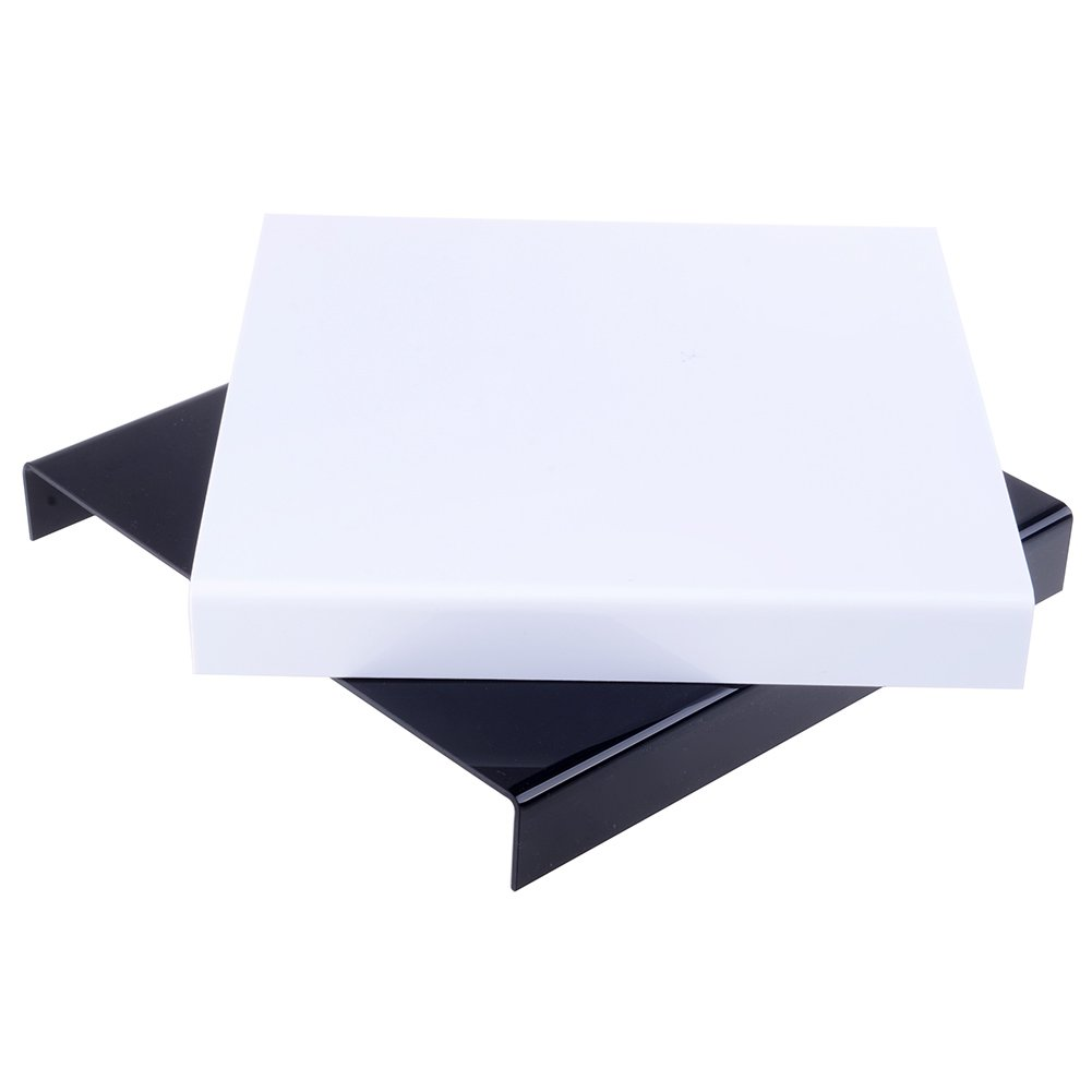 Neewer 9.5'x9.5' Table Top Acrylic Reflective Display Shooting Table Black & White Combo for Product Photography 90081243@@##1
