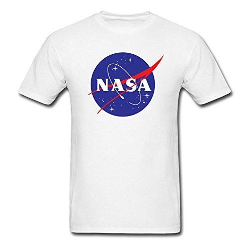 Camiseta corta nasa 0 de blanca manga qgFv7SrWg