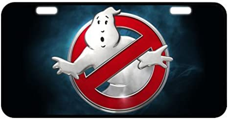 Ghost Busters Metal License Plate Custom Car Decoration License Plate Cover Tag jesus ontiverosfsdfsf