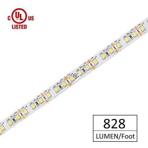 HitLights Warm White LED Strip Lights, UL-LISTED Premium High Density 2835 LED Lights - 10 Feet, 360 LEDs, 3000K, 828 Lumens/Foot, 12V DC LED Tape (828 Light)