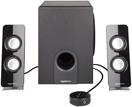 AmazonBasics AC Powered 2.1 30W Bluetooth Computer Speakers with Subwoofer (Computer Subwoofer Only)