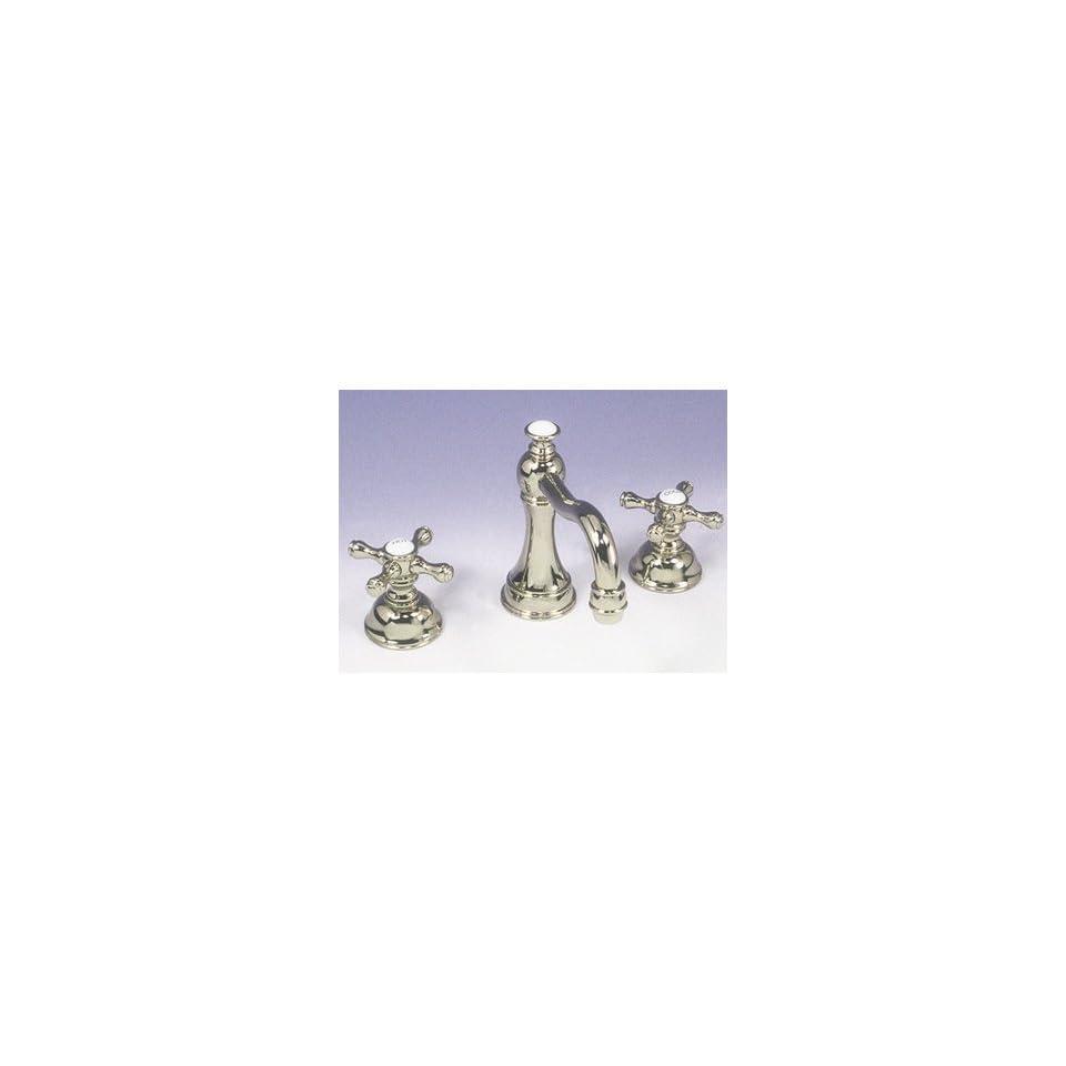 Paul Decorative C732 00 SC Satin Chrome Bathroom Sink Faucets 8 Faucet High Spout Cross Handles
