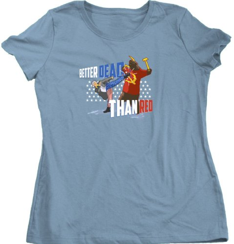 Ann Arbor T-Shirt Co. Women's Better Dead Than Red Cut T-Shirt