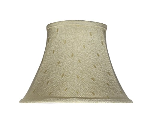Aspen Creative 30100 Transitional Bell Shape Spider Construction Lamp Shade in Camel, 13