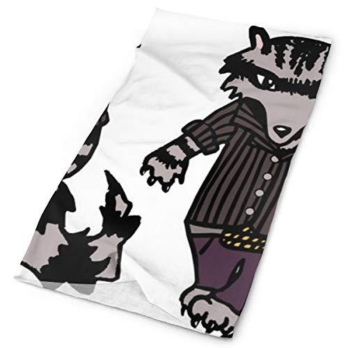 Knit Swagger - Headbands Raccoon With Swagger_2568 Elastic Seamless Bandana Versatile Sports & Casual Headwear 9.8x19.7inch