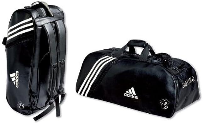 Adidas Sac de sport PU convertible en sac à dos Bandes