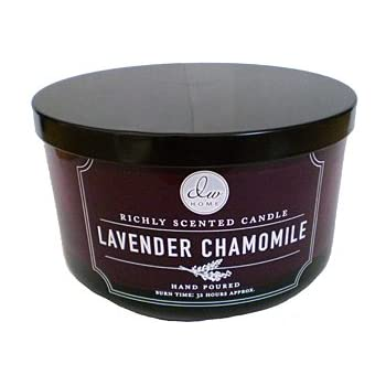 dw home lavender chamomile candle 3 wick 13 3 oz richly scented 26 hour home kitchen. Black Bedroom Furniture Sets. Home Design Ideas