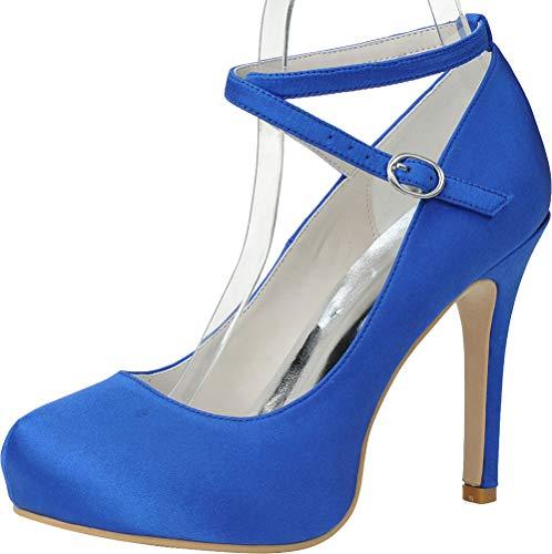 Bleu CFP Bleu 5 Sandales Femme 36 Plateforme fqqPBwz