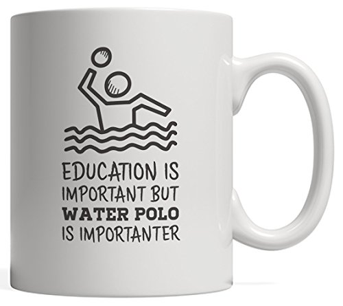 Schooling Is Important But Water Polo Is Importanter - Cool Sports Gift With Funny Sport Saying For Waterpolo Player Or Team Players Who Ardour Scoring Goals On A Pool!