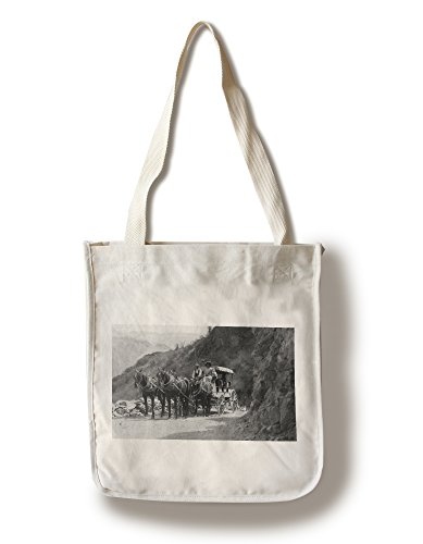 Lantern Press Lake Chelan, Washington - View of Stagecoach Cape Horn Near Chelan Canyon (100% Cotton Tote Bag - -