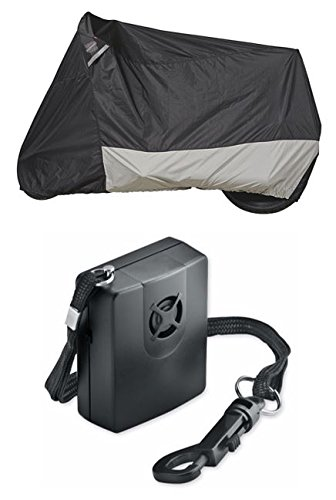 Guardian By Dowco - WeatherAll Plus Motorcycle Cover - Large with Dowco's Integrated 130 Decibel Alarm System (Dowco Cover Guardian Motorcycle Alarm)