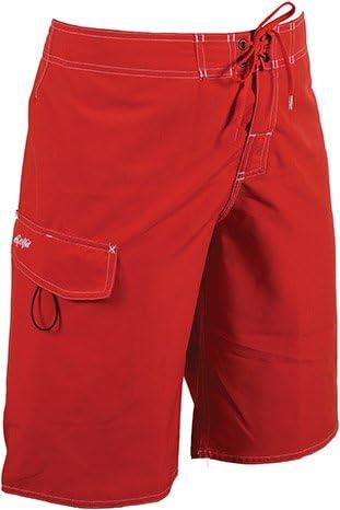 Dolfin Swimwear Fitted Board Short 34 Red
