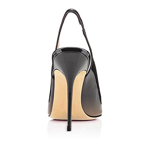 Grande Femmes Taille Ubeauty Talon Talons 12cm Chaussures Haute Beige Aiguille Stilettos Femme Escarpins noir Avec Sqq0w5Y