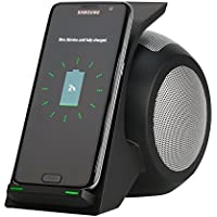 Fast Wireless Charger with HD Stereo Bluetooth Speaker Hands-Free Calling for iPhone 8/8 Plus/X, Samsung Galaxy Note 8, S8, S8 Plus, S6 Edge Plus and All Qi-Enabled Devices, (Black)
