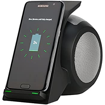 Amazon Com Fast Wireless Charger With Bluetooth Speaker
