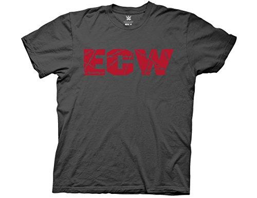 Ripple Junction WWE Retro ECW Logo Adult T-Shirt Medium Charcoal