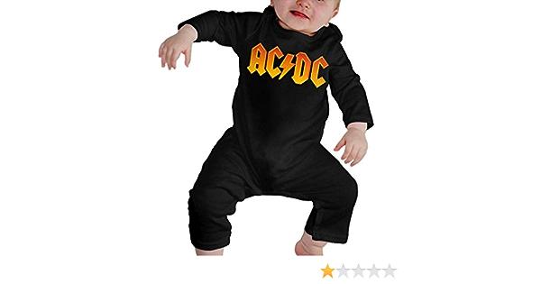 ACDC Body de beb/é Body de Manga Larga Jersey Camiseta de algod/ón 0-24 Meses