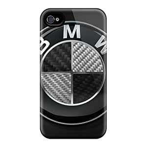 Scratch Resistant Cell-phone Hard Cover For Apple Iphone 4/4s (GbO955CLnl) Provide Private Custom Colorful Bmw Logo Skin