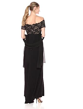 Jessica Howard Women's Lace Bodice Gown