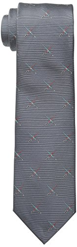 (Star Wars Men's Lightsaber Duel Tie, Grey, One)