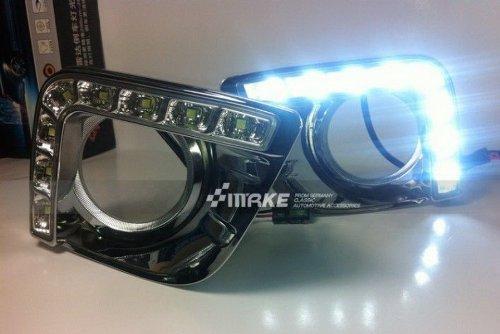 Daytime Running Light Day Fog Lamp Turn Signal Cover Kit LED DRL 2PCS Fit For 2010 2011 2012 PRADO LAND CRUISER 2700 LC150